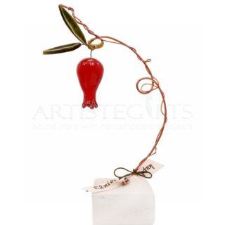 Μεγάλο Κεραμικό με Κόκκινο Ρόδι και Ευχές  γούρια  χειροποίητα γούρια με ρόδι  κεραμικά ρόδια  διακοσμητικά δώρα με ροδιά  δώρα για εγκαίνια  πρωτότυπα γούρια  δώρα καλοτυχίας  δώρα για νέο σπίτι  γούρια με ευχές  χριστουγεννιάτικα γούρια 