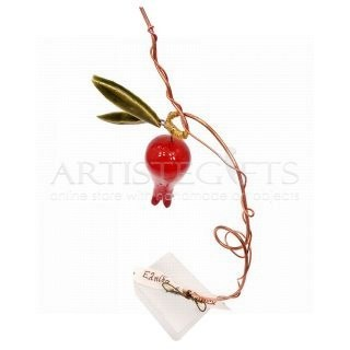 Μεγάλο Κεραμικό με Κόκκινο Ρόδι και Ευχές  γούρια  χειροποίητα γούρια με ρόδι  κεραμικά ρόδια  διακοσμητικά δώρα με ροδιά  δώρα για εγκαίνια  πρωτότυπα γούρια  δώρα καλοτυχίας  δώρα για νέο σπίτι  γούρια με ευχές  χριστουγεννιάτικα γούρια, 2