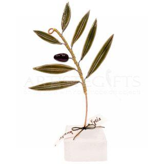 Κεραμικό Κλαδί Ελιάς Με Καρπό Μεσαίο & Ευχές| κλαδί ελιάς| κεραμική ελιά|δώρα με ελιά| κεραμικό κλαδί ελιάς| κλαδί ελιάς με καρπό| επιχειρηματικά δώρα| εταιρικά δώρα| ελληνικά| δώρα| αναμνηστικά δώρα| δώρα με ελιές| βραβεία| βραβείο| δώρα με μήνυμα| προσωποποιημένα δώρα| συμβολικά δώρα| δώρα για ομιλητές|