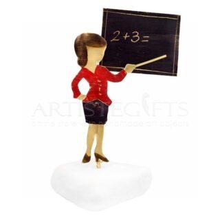 Δασκάλα Με Ταγέρ Σε Πίνακα