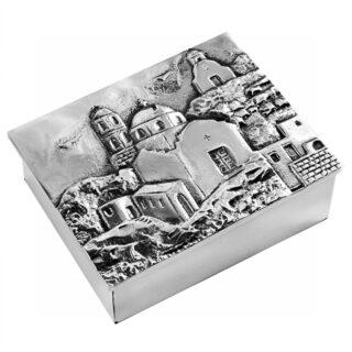 Σαντορίνη, μεταλλικό κουτί, κουτιά, οργάνωση γραφείου, χειροποίητα δώρα, αναμνηστικά δώρα, επιχειρηματικά δώρα, ελληνικά δώρα, δώρα για σπιτι, δώρα για γραφείο