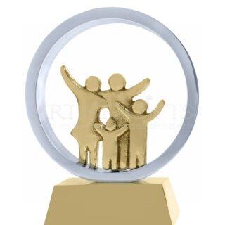 Αγαπημένη Οικογένεια, Γλυπτό Σε Κύκλο, δώρα για επέτειο, βραβεία, δώρα για γονείς, δώρα για γιορτή μητέρας, δώρα για γιορτή πατέρα, δώρα για νέο σπίτι, γλυπτά, επιχειρηματικά δώρα, συνεργασία, αγάπη, οικογένεια, γονείς με παιδιά