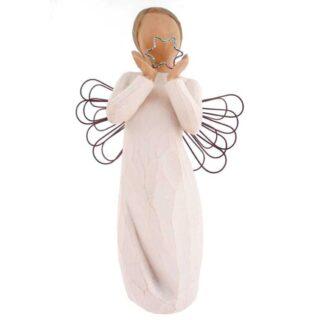 Άγγελος Με Φτερά Από Σίρμα και Αστέρι, άγγελος, άγγελος με αστέρι, δώρα ευχαριστίας, δώρα για ανάρρωση, δώρα για περαστικά, ιδέες δώρων για