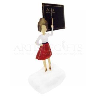 Δασκάλα Με Κόκκινη Φούστα Σε Πίνακα