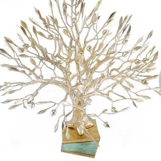 Γλυπτό Δέντρο Ελιάς Σε Βάση Από Κρύσταλλα
