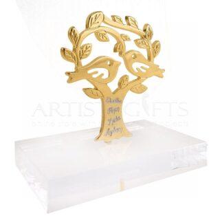 Δέντρο της Ζωής με Πουλιά Και Ευχές σε Πλέξιγκλας