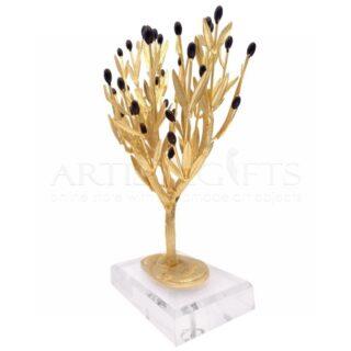 Δέντρο Ελιάς Πλούσιο Με Φύλλα και Καρπούς Σε Πλέξιγκλας
