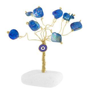 Δέντρο Ζωής Μικρό Με Μπλε Μάτι και Τιρκουάζ Φίλντισι, δέντρο ζωής, γούρια με δέντρο ζωής, δέντρα ζωής, δώρα για εγκαίνια, δώρα για νέο σπίτι, δώρα για νέο διαμέρισμα, μπλε μάτι, δώρα ευχαριστίας, δώρα για καλή τύχη, πρωτότυπα γούρια, επιχειρηματικά δώρα, χριστουγεννιάτικα δώρα,