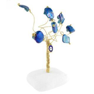 Δέντρο Ζωής Μικρό Με Μπλε Μάτι και Τιρκουάζ Φίλντισι, δέντρο ζωής, γούρια με δέντρο ζωής, δέντρα ζωής, δώρα για εγκαίνια, δώρα για νέο σπίτι, δώρα για νέο διαμέρισμα, μπλε μάτι, δώρα ευχαριστίας, δώρα για καλή τύχη, πρωτότυπα γούρια, επιχειρηματικά δώρα, χριστουγεννιάτικα δώρα, 1