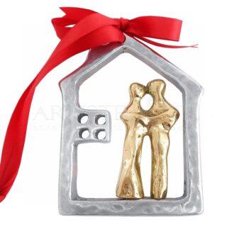 Αφαιρετικό Ζευγάρι Μέσα Σε Περίγραμμα Σπιτιού Mix, δώρα για ζευγάρι, δώρα για επέτειο, δώρα για αρραβώνα, δώρο για ζευγάρι, χειροποίητα δώρα για ζευγάρι, ιδέες δώρων για ζευγάρια,
