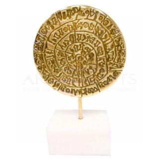 Δίσκος Φαιστού Κάθετος Σε Μαρμάρινη Βάση, δίσκος Φαιστού, μουσειακά αντίγραφα, αναμνηστικά δώρα, επιχειρηματικά δώρα, ελληνικά δώρα, βραβεία, βραβείο, δώρα επιβράβευσης, προσωποποιημένα δώρα, , ελληνικά δώρα, δώρα για καλεσμένους από εξωτερικό, δώρα ευχαριστίας, αρχαία Ελλάδα,
