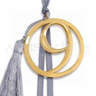 Γούρι Χρυσό 9 Σε Κύκλο Με Φούντα