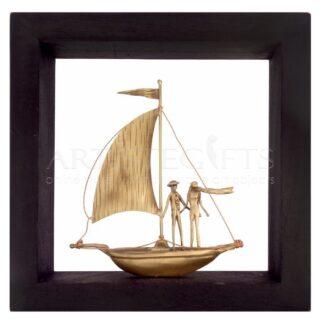 Κάδρο Καράβι με Ζευγάρι