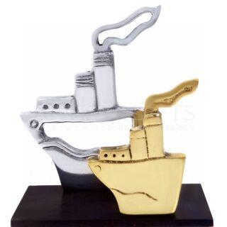 Διακοσμητικό Διπλά Καράβια Με Καπνό Δίχρωμα, διακοσμητικά με καράβια, επιχειρηματικά δώρα, δώρα για το γραφείο, είδη γραφείου, δώρα με λογοτύπηση, εταιρικά δώρα, ναυτικά δώρα, δώρα για ναυτιλιακό, καράβια, καράβι, πλοίο, πλοία, karavia, tanker, xeiropoiita dora