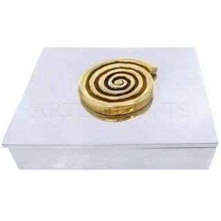 Κουτί Παραλληλόγραμμο Διακοσμημένο Με Σπείρα, μουσειακά αντίγραφα, κουτί, μεταλλικά κουτιά, σπείρα, δώρα για το γραφείο, δώρα για συνεργάτες, ελληνικά δώρα, επιχειρηματικά δώρα, δώρα αναμνηστικά, δώρα με σύμβολο σπείρας, εταιρικά δώρα, χρηστικά δώρα, 3