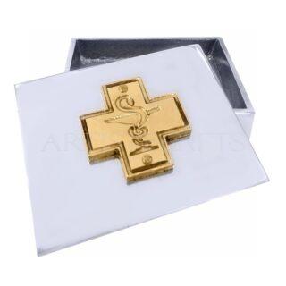 Πολυχρηστικό Κουτί με Σύμβολο Φαρμακευτικής, δώρα για φαρμακοποιό, φαρμακοποιούς, φαρμακευτική, σύμβολο φαρμακευτικής, δώρα για εγκαίνια φαρμακείου, φαρμακείο, δώρα για απόφοιτο, δώρα για πτυχιούχο, προσωποποιημένα δώρα
