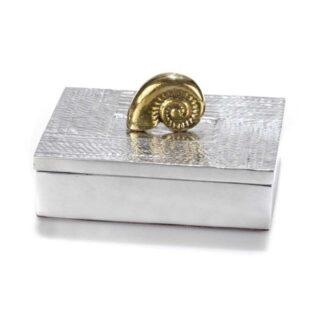 Μεταλλικό Κουτί με Διακοσμητικό Ναυτίλο