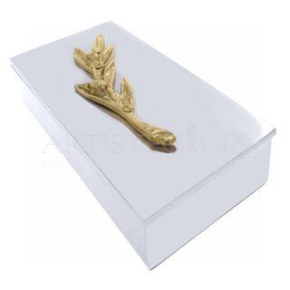 Μεταλλικό Κουτί με Διακοσμητικό Κλαδί Ελιάς, κλαδί ελιάς, ελιά, ελιές, μεταλλικό κουτί, δώρα για το γραφείο, αποθηκευτικά κουτιά, είδη γραφείου, δώρα για συνεργάτες, δώρα για πελάτες, επιχειρηματικά δώρα, ελληνικά δώρα, προσωποποιημένα δώρα