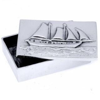 μεταλλικό κουτί, κουτιά, ιστιοφόρο, καράβι, καράβι με πανιά, επιχειρηματικά δώρα, αναμνηστικά δώρα, ναυτικά δώρα