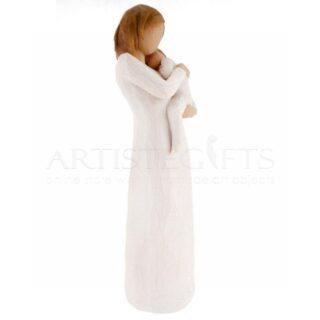 Όρθια Μητέρα Αγκαλιά Με Μωρό