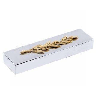 Κουτί Μακρόστενο Με Διακοσμητικό Κλαδί Ελιάς Στο Καπάκι, αναμνηστικά δώρα, ελιά, olive, κουτί, μολυβοθήκη, κουτί, προσωποποιημένα δώρα, δώρα για το γραφείο, ελληνικά δώρα