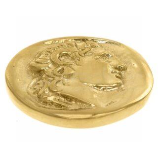 Μέγας Αλέξανδρος, νόμισμα, νόμισμα με πρόσωπο μέγα Αλέξανδρου, ελληνικά δώρα, αναμνηστικά δώρα, επιχειρηματικά δώρα, πρες παπιέ, μουσειακά αντίγραφα, 1