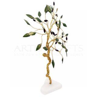 Δέντρο Ελιάς Μεγάλο Με Στριφτό Κορμό και Πράσινα Φύλλα