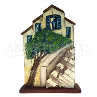 Σπίτι Μεγάλο Με Δέντρο Και Τρισδιάστατη Σκάλα