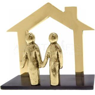 Καρτελοθήκη Περίγραμμα Σπίτι Ζευγάρι Από Ορείχαλκο, καρτελοθήκη, καρτοθήκη, σπίτι, ζευγάρι, συνεργασία, ομαδικότητα, επιχειρηματικά δώρα, δώρα ευχαριστίας, δώρα για εγκαίνια, δώρα για το γραφείο, είδη γραφείου