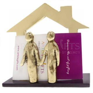 Καρτελοθήκη Περίγραμμα Σπίτι Ζευγάρι Από Ορείχαλκο, καρτελοθήκη, καρτοθήκη, προσωποποιημένα δώρα, σπίτι, ζευγάρι, συνεργασία, ομαδικότητα, επιχειρηματικά δώρα, δώρα ευχαριστίας, δώρα για εγκαίνια, δώρα για το γραφείο, είδη γραφείου