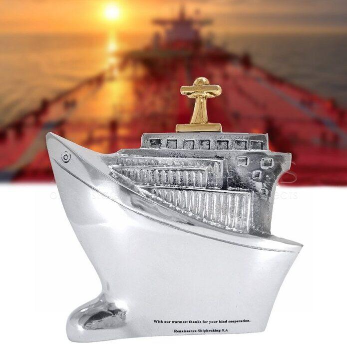 Διακοσμητικό Καράβι Τάνκερ Κοντό Από Αλουμίνιο