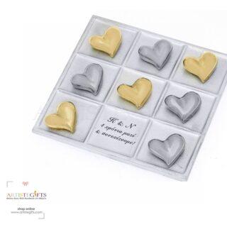 τρίλιζα, επιχειρηματικά δώρα, δώρα γάμου, δώρα για ζευγάρια, καρδιά, καρδιές, προσωποποιημένα δώρα, δώρα με μήνυμα, δώρα για αρραβώνα, δώρα αγίου βαλεντίνου
