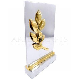 Πλακέτα Κλαδί Ελιάς Σε Πλάτη Από Αλουμίνιο, δώρα ευχαριστίας, αναμνηστικά δώρα, επιχειρηματικά δώρα, εταιρικά δώρα, πλακέτα για βράβευση, βραβεία, αναμνηστική πλακέτα, δώρα με ελιά, ιδέες για δώρα σε ομιλητές, δώρα για βράβευση, πλακέτες με χάραξη, laser χάραξη, δώρα με λογότυπο, 1