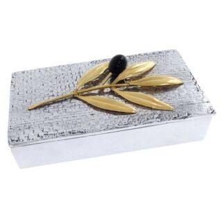 κλαδί ελιάς, ελιά, κουτί, μεταλλικό κουτί, καρτελοθήκη γραφείου, αναμνηστικά δώρα, επιχειρηματικά δώρα, δώρα για το γραφείο, δώρα για εγκαίνια, δώρα για προϊστάμενο, δώρα για διευθυντή, ελληνικά δώρα