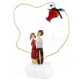 Ζευγάρι και Ρόδι Μέσα Σε Περίγραμμα, δώρα για ζευγάρια, δώρα για αρραβώνα, δώρα για νέο σπίτι, δώρα για γυναίκα, δώρα για άντρα, δώρα για επέτειο ζευγαριού, χειροποίητα γούρια, προσωποποιημένα δώρα, δώρα για παντρεμένα ζευγάρια, πρωτότυπα γούρια, γούρια με ρόδι, ρόδια