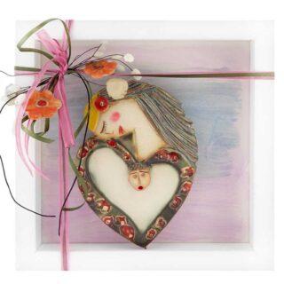 Κεραμικό Κάδρο Μητρότητα, Στοργή, Φροντίδα Σχ1, δώρα για μητέρα, δώρο για νέα μητέρα, νέοι γονείς, δώρα εγκυμοσύνης, δώρα γέννας, δώρα για γιατρό, δώρα για γυναικολόγο, δώρα για μαιευτήρες, δώρα για γιορτή μητέρας, κάδρο με μητέρα και μωρό, ιδέες δώρων για μητέρα, μητρότητα, στοργή