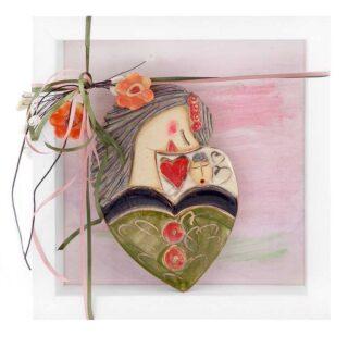 Κεραμικό Γλυπτό Μητέρα, Μωρό Σε Καρδιά Σχ 3, μητρότητα, δώρα εγκυμοσύνης, δώρα για έγκυο, δώρα για γιορτή μητέρας, δώρα για μητέρα, μητέρες, δώρα για μάνα, δώρα για γυναικολόγο, δώρα για παιδιατρο, γυναικολόγους, μαιευτήρες, μαία, μαίες, πρωτότυπα δώρα για νονά,