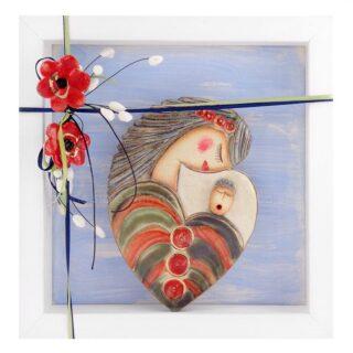 Κεραμικό Κάδρο Μητρότητα, Στοργή, Φροντίδα Σχ4, μητρότητα, δώρα εγκυμοσύνης, δώρα για έγκυο, δώρα για γιορτή μητέρας, δώρα για μητέρα, μητέρες, δώρα για μάνα, δώρα για γυναικολόγο, δώρα για παιδίατρο, γυναικολόγους, μαιευτήρες, μαία, μαίες, πρωτότυπα δώρα για νονά