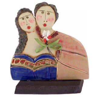 """Κεραμικό Γλυπτό """"Αγκαλιασμένο Ζευγάρι"""" Σχ2, κεραμικό γλυπτό, δώρα για ζευγάρι, δώρα για ζευγάρια, δώρα για νέο σπίτι, δώρα για επέτειο, δώρα γάμου, δώρα αρραβώνα, προσωποποιημένα δώρα, ιδέες δώρων για ζευγάρι, 3"""