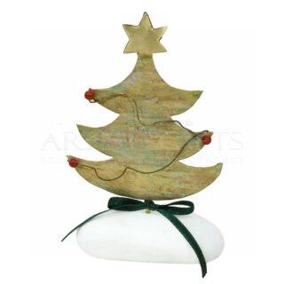 Χριστουγεννιάτικο Δέντρο Με Αστέρι Σε Βότσαλο