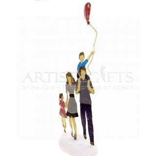 Ζευγάρι - Γονείς, Με Αγόρι, Κορίτσι Και Μπαλόνι