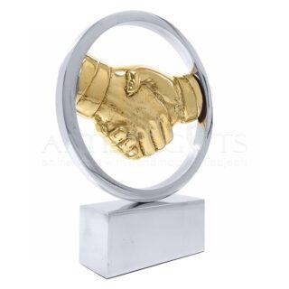 Γλυπτό Χέρια, Χειραψία Μέσα Σε Κύκλο