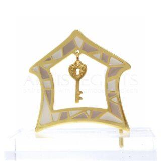 Μικρό Σπίτι Στολισμένο με Σμάλτα & Κλειδί Σε Πλέξιγκλας