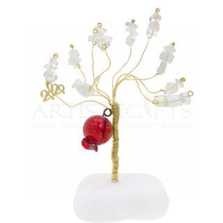 Δέντρο Ζωής Με Γυάλινο Ρόδι, 2020 Και Λευκές Χάντρες, δέντρο ζωής, δέντρα, χειροποίητα δέντρα, δώρα γάμου, δώρα αρραβώνα, ημιπολύτιμες πέτρες, δώρα για εγκαίνια, δώρα για γιατρό, δώρα για νέο σπίτι, δώρα για ζευγάρια, δέντρα ζωής, προσωποποιημένα δώρα, δώρα με μήνυμα, δώρα για ομιλητές, ρόδι, ρόδια, ορειχάλκινα δέντρα