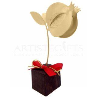 Μεγάλο Επιχρυσωμένο Ρόδι Πομπέ & Σπόρια Σε Ξύλινη Βάση, γούρια με ρόδια, ρόδι, ρόδια, δώρα για εγκαίνια, δώρα για νέο σπίτι, δώρα για νέο γραφείο, δώρα για νέο διαμέρισμα, προσωποποιημένα δώρα, δώρα με ευχές, χριστουγεννιάτικα δώρα, δώρα χριστουγέννων, πρωτοχρονιάτικα δώρα, πρωτότυπα χειροποίητα γούρια, γούρια από ορείχαλκο, διακοσμητικά γούρια