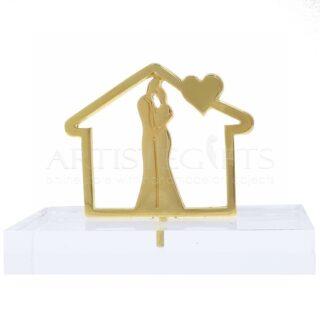 Σπίτι με Σκεπή Καρδιά & Ζευγάρι Σε Πλέξι