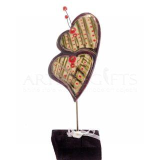 Κεραμικές Διπλές Καρδιές Σε Βάση, καρδιά, καρδιές, δώρα για ζευγάρια, δώρα για επέτειο, δώρα γάμου, κεραμικές καρδιές, δώρα αγίου βαλεντίνου, γαμήλια δώρα, δώρα για αρραβώνα, 4