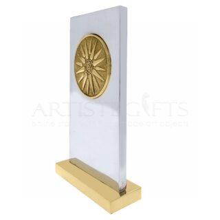 αναμνηστική πλακέτα, ηλιος, ήλιος βεργίνας, βεργίνα, επιχειρηματικά δώρα, εταιρικά δώρα, μουσειακά αντίγραφα, ελληνικά δώρα, business gifts, greek gifts