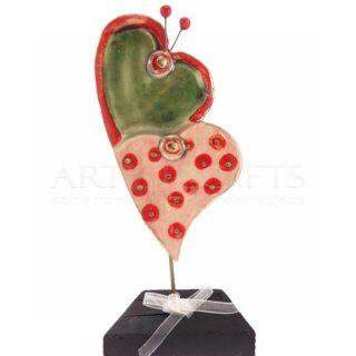 Κεραμικές Διπλές Καρδιές Σε Βάση, καρδιά, καρδιές, δώρα για ζευγάρια, δώρα για επέτειο, δώρα γάμου, κεραμικές καρδιές, δώρα αγίου βαλεντίνου, γαμήλια δώρα,
