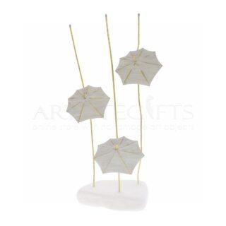 Ομπρέλες Σε Λευκό Μάρμαρο